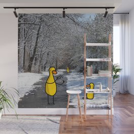 Snowy Duck Moment | Veronica Nagorny  Wall Mural