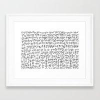 code Framed Art Prints featuring Code by nefos
