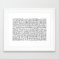 code geass Framed Art Prints featuring Code by nefos