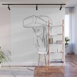 """Gaming Collection "" - Girl Wearing Virtual Reality Goggles Wall Mural"