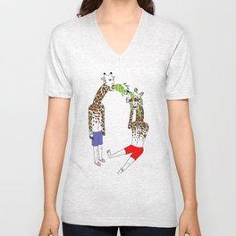 giraffe boyz Unisex V-Neck