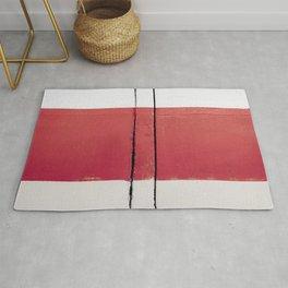 White Red White Rug