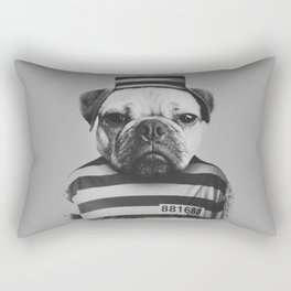 Pug Convict Rectangular Pillow