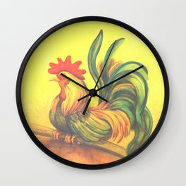 Cottage Rooster Wall Clock