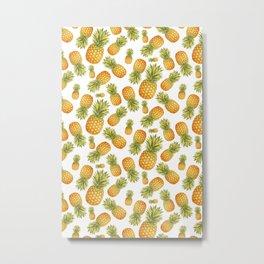 Pineapple Glittering Party Metal Print