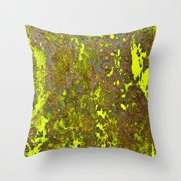 Yellow Rust Throw Pillow