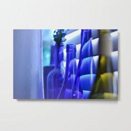 Blue Bottles - 1 Metal Print