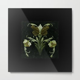 Antique Flowers No.1a by Kathy Morton Stanion Metal Print