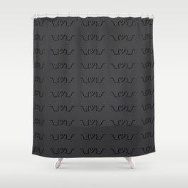 ¯\_(ツ)_/¯ Shrug - Dark Grey Shower Curtain