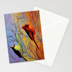 Birds on the birch tree Stationery Cards