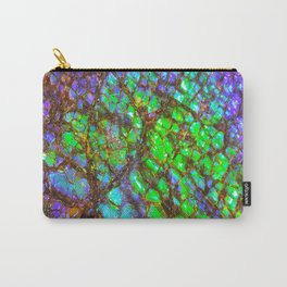 Peacock Ammolite Carry-All Pouch
