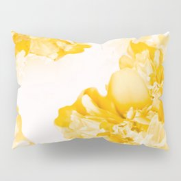 Beautiful Peony Flowers White Background #decor #society6 #buyart Pillow Sham