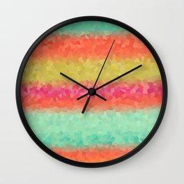 Horizontal Color Lists Wall Clock