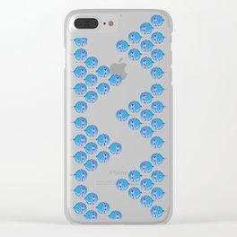 Blue bulbs Clear iPhone Case