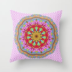 Mix&Match;  Pretty Pink Mandala Meditation pillow 02 Throw Pillow