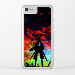 Attack On Titan nebula Clear iPhone Case