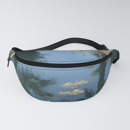Peaceful Pond Oasis in Desert Heat Fanny Pack