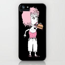 Burger Lovin Lady iPhone Case