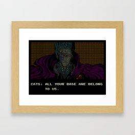 All your text are belong to us Framed Art Print