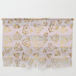 Rough Diamonds Faux Gold Blush Wall Hanging