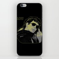 lou reed iPhone & iPod Skins featuring Lou Reed by Adam Metzner