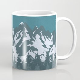 Trees and Mountains Coffee Mug