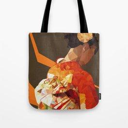 Polygonal kimono girl Tote Bag