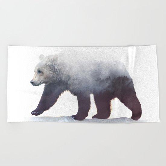 Wild Bear Beach Towel