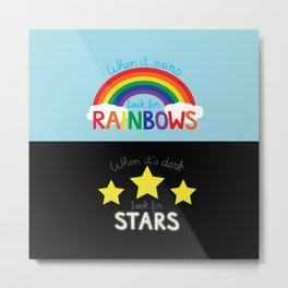 Rainbows & Stars Metal Print
