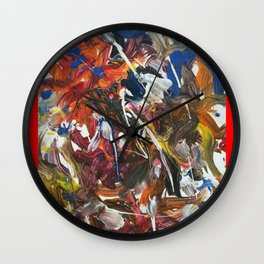Rainbow meaning of life modern paintings by Christian T. Wall Clock