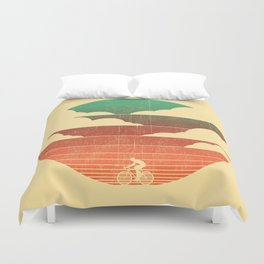 Go West (cycling edition) Duvet Cover