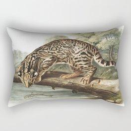Vintage Cat Art Rectangular Pillow
