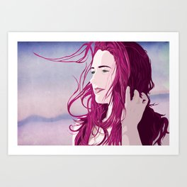off in the distance, she dreams. Art Print