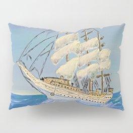 White Sailing Ship Pillow Sham