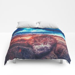 Shrooms on the beach Comforters
