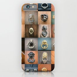 Collection of beautiful vintage doorknobs of ancient doors in Rome - architectural details  iPhone Case
