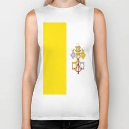Flag of Vatican City ✞ Biker Tank