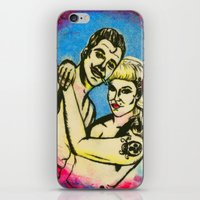 rockabilly iPhone & iPod Skins featuring Rockabilly love by Lydia Dick