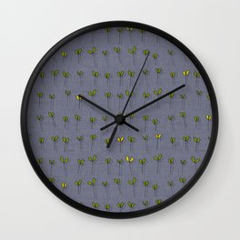 sprouts amethyst Wall Clock