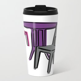 Table & Chairs 01 Metal Travel Mug