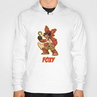 fnaf Hoodies featuring Foxy Plush by Silvering