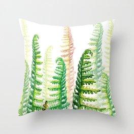tropical plants Throw Pillow