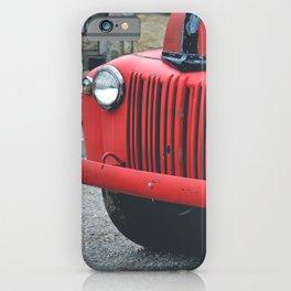 Vintage Fire Truck iPhone Case