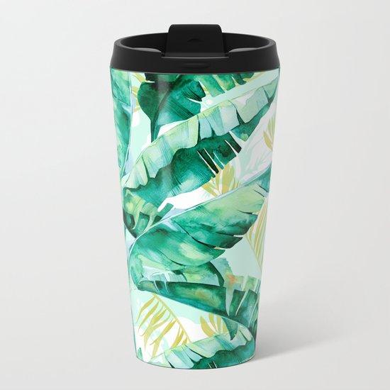 Banana leaf Metal Travel Mug