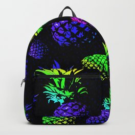 neon colored pineapple pattern Backpack