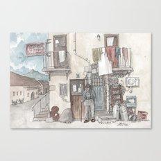 Pizzeria Oliveri Canvas Print