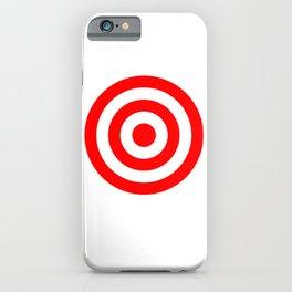 Bullseye Target Red & White Shooting Rings iPhone Case