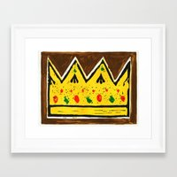 crown Framed Art Prints featuring Crown by Briony Smith