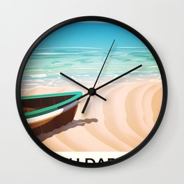 Porth Dafarch, Anglesey vintage Travel poster Wall Clock