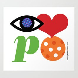 Eye Love P Ball Rebus #1 Art Print